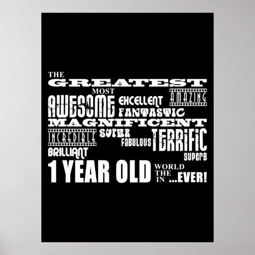 Cool Modern 1st Birthdays : Greatest 1 Year Old Print