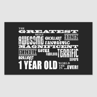 Cool Modern 1st Birthdays : Greatest 1 Year Old Rectangle Stickers