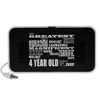 Cool Modern 4th Birthdays : Greatest 4 Year Old Portable Speaker