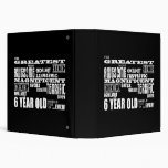 Cool Modern 6th Birthday Party Greatest 6 Year Old 3 Ring Binder