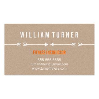 COOL MODERN ARROW simple sketch trendy eco kraft Business Card