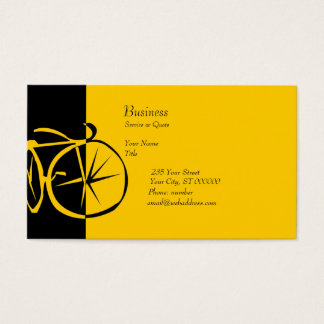 Cool Modern Bike  Contemporary Artsy Bike Woodcut Business Card