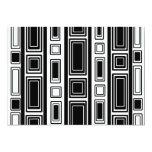 Cool modern black and white rectangle design 5x7 paper invitation card