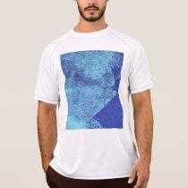 Cool, modern, blue abstract painting art T-Shirt