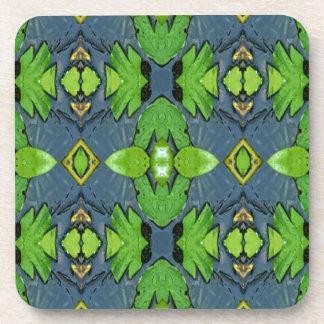 Cool Modern Blue Green Tribal Pattern Drink Coaster