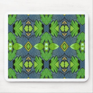 Cool Modern Blue Green Tribal Pattern Mouse Pad