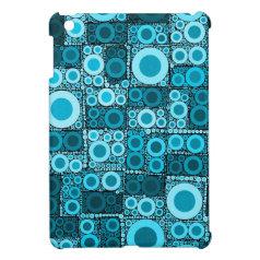 Cool Modern Circles Blue Teal Mosaic Tile Pattern iPad Mini Covers