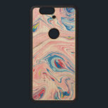 """Cool Modern Colorful Marble Swirls Pattern Wood Nexus 6P Case<br><div class=""""desc"""">Colorful cool soft tones modern abstract colorful marble swirls pattern</div>"""