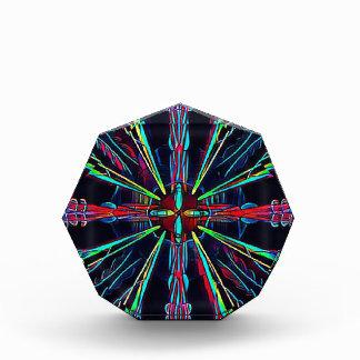 Cool Modern Colorful Neon Pattern Award