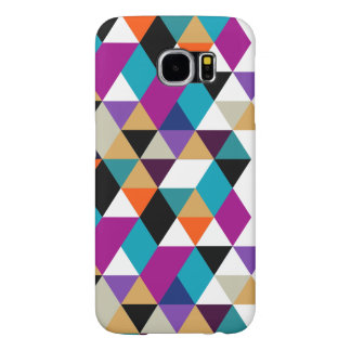 Cool Modern Colorful Triangles Pattern Samsung Galaxy S6 Case