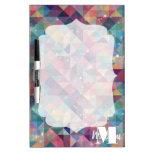 Cool modern colourful triangles geometric pattern Dry-Erase board