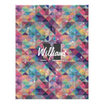 Cool modern colourful triangles geometric pattern flyer