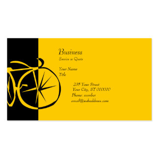 Cool Modern Contemporary Artsy Bike Woodcut Business Cards