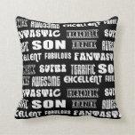 Cool Modern Design 4 Sons  Positive Words Pillows