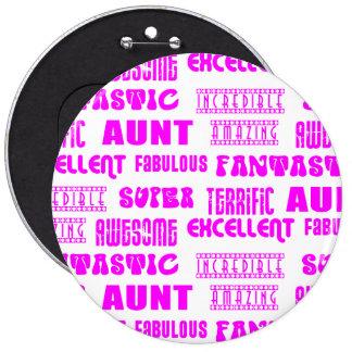 Cool Modern Design for Aunts : Positive Words Pinback Button