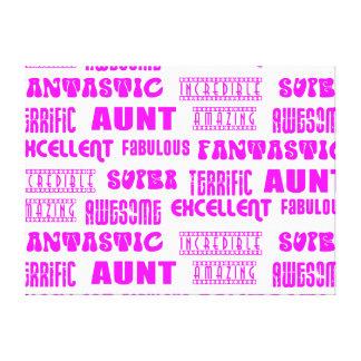 Cool Modern Design for Aunts : Positive Words Canvas Prints