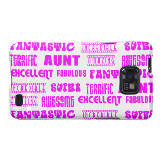 Cool Modern Design for Aunts : Positive Words Galaxy SII Cases