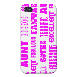 Cool Modern Design for Aunts : Positive Words Cover For iPhone 4