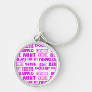 Cool Modern Design for Aunts : Positive Words Key Chain