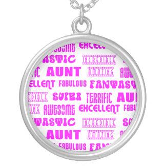 Cool Modern Design for Aunts : Positive Words Necklaces