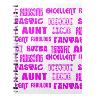 Cool Modern Design for Aunts : Positive Words Notebook