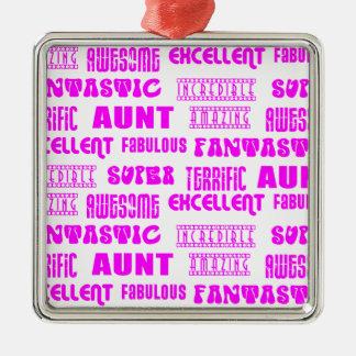 Cool Modern Design for Aunts : Positive Words Ornaments