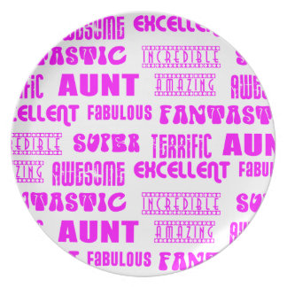 Cool Modern Design for Aunts : Positive Words Party Plates