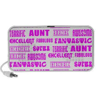 Cool Modern Design for Aunts : Positive Words Mini Speakers