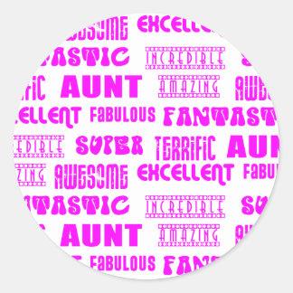 Cool Modern Design for Aunts : Positive Words Round Sticker