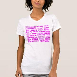 Cool Modern Design for Aunts : Positive Words Tshirt