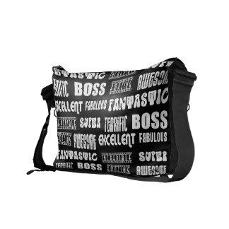 Cool Modern Design for Bosses Positive Words Messenger Bags