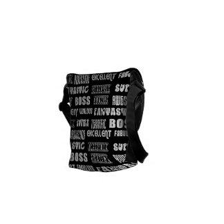 Cool Modern Design for Bosses Positive Words Courier Bag