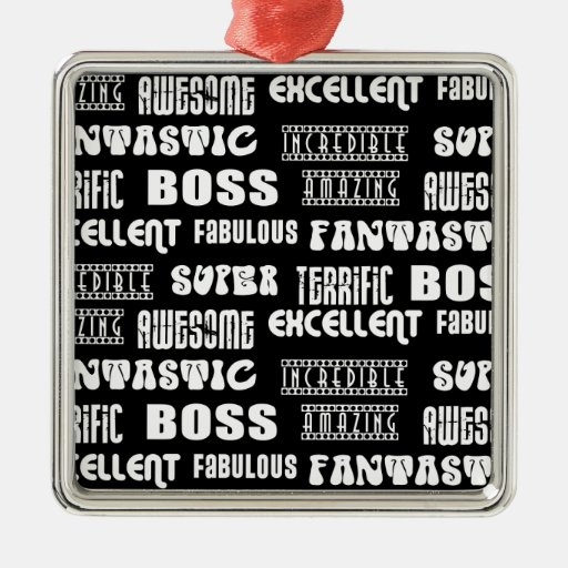 Cool Modern Design for Bosses : Positive Words Christmas Tree Ornament