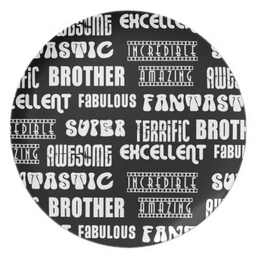 Cool Modern Design for Brothers : Positive Words Party Plates