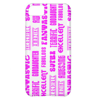 Cool Modern Design for Goddaughters Positive Words iPhone 5C Covers