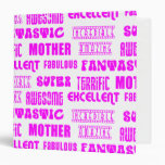Cool Modern Design for Mothers : Positive Words Binders