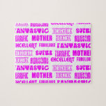 Cool Modern Design for Mothers : Positive Words Puzzles