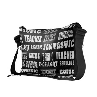 Cool Modern Design for Teachers : Positive Words Courier Bags