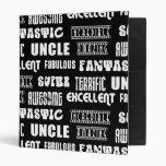 Cool Modern Design for Uncles : Positive Words Binder
