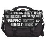 Cool Modern Design for Uncles : Positive Words Laptop Messenger Bag