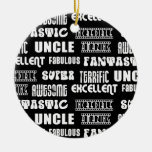 Cool Modern Design for Uncles : Positive Words Christmas Tree Ornaments