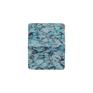 Cool, modern digital art of blue watercolor business card holder
