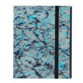 Cool, modern digital art of blue watercolor iPad case