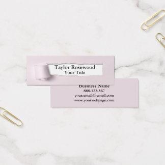 Cool Modern Faux Torn Paper Rose Mini Business Card