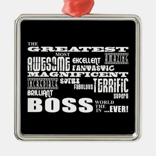 Cool Modern Fun Bosses : Greatest Boss Christmas Ornament