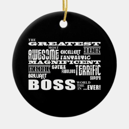 Cool Modern Fun Bosses : Greatest Boss Ornament