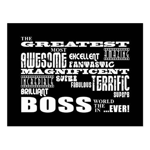 Cool Modern Fun Bosses : Greatest Boss Postcard