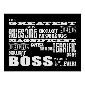 Cool Modern Fun Bosses : Greatest Boss Posters