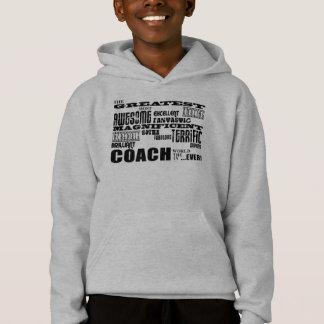 Cool Modern Fun Coaches  Greatest Coach World Ever Hoodie