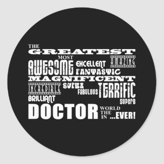 Cool Modern Fun Doctors Greatest Doctor World Ever Sticker